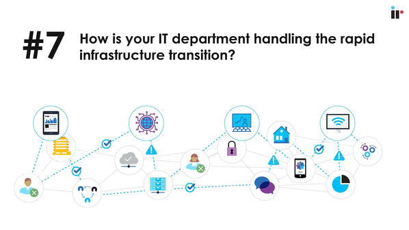 How is your IT department handling the rapid infrastructure transition