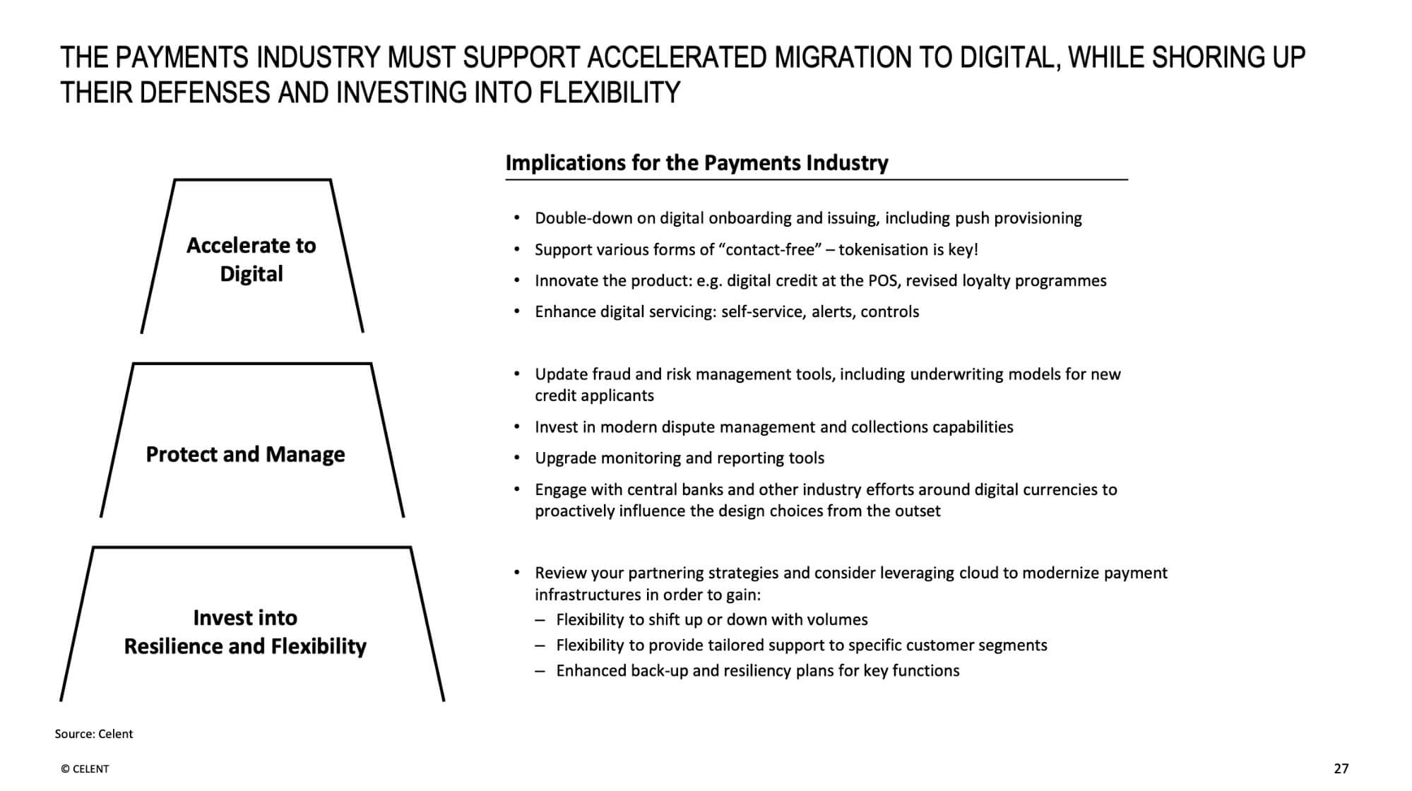 The payments industry must support accelerated migration to digital, while shoring up their defenses and investing into flexibility