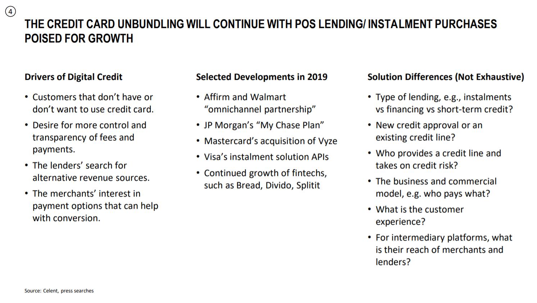 Credit Card Unbundling Updates