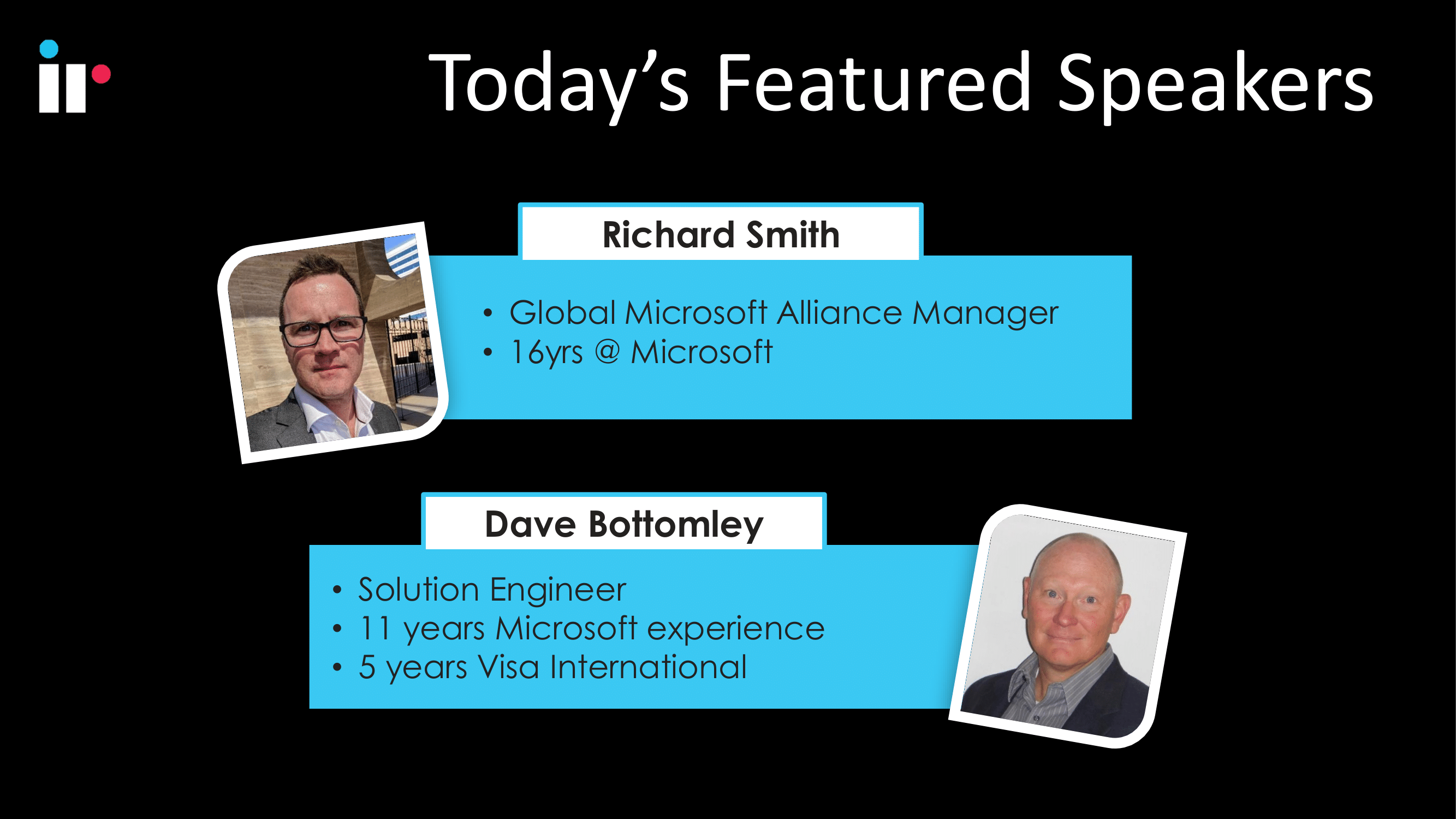 Speakers for The Journey to Microsoft Teams Webinar